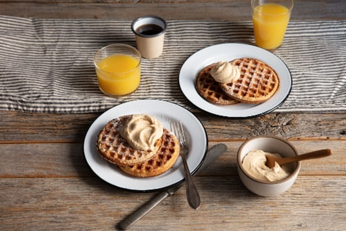 Kodiak Cakes Buttermilk and Vanilla Power Waffles Perspective: top