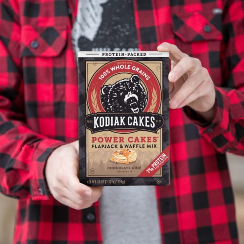 Kodiak Cakes Power Cakes Chocolate Chip Flapjack & Waffle Mix Perspective: top