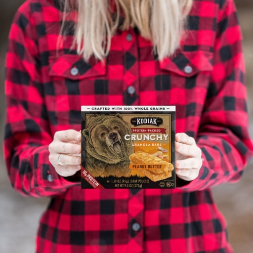 Kodiak Cakes Protein-Packed Peanut Butter Crunchy Granola Bars Perspective: top