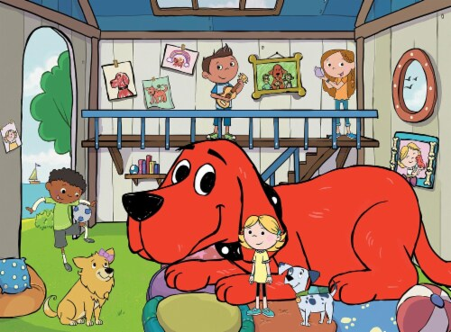 Clifford the Big Red Dog Doghouse 24 Piece Jigsaw Puzzle Perspective: top