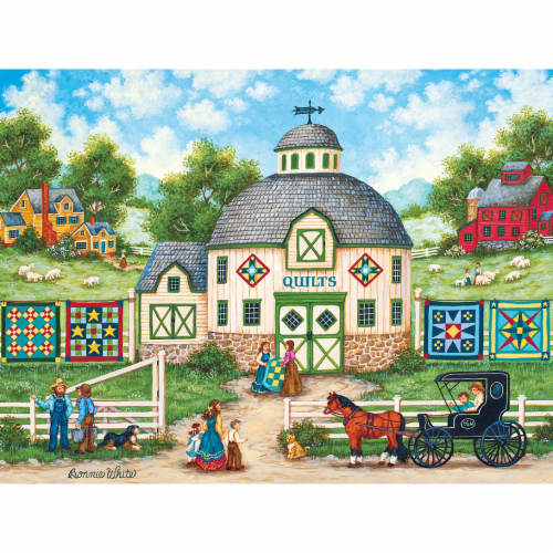 MasterPieces Heartland Collection The Quilt Barn Puzzle Perspective: top