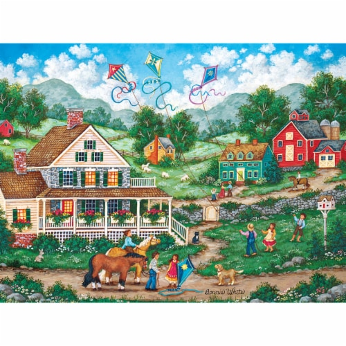 MasterPieces Heartland Collection Crosswinds Puzzle Perspective: top