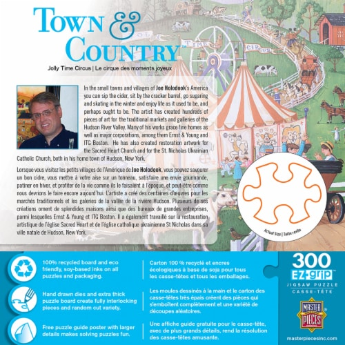 MasterPieces Town & Country - Jolly Time Circus 300pc EzGrip Puzzle Perspective: top