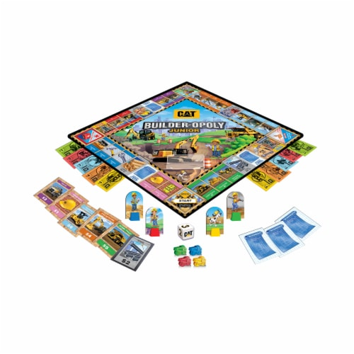 MasterPieces CAT Builder-opoly Junior Board Game Perspective: top