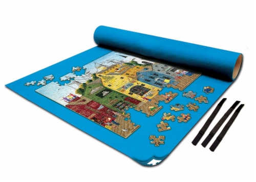 MasterPieces Jigsaw Puzzle Roll & 8 Inch Stow Box | Fits 1500 Pieces Perspective: top