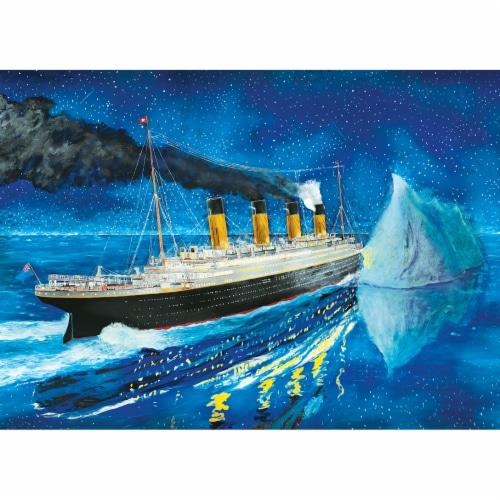 MasterPieces Titanic Series - Titanic At Sea Iceburg 1000 Piece Jigsaw Puzzle Perspective: top