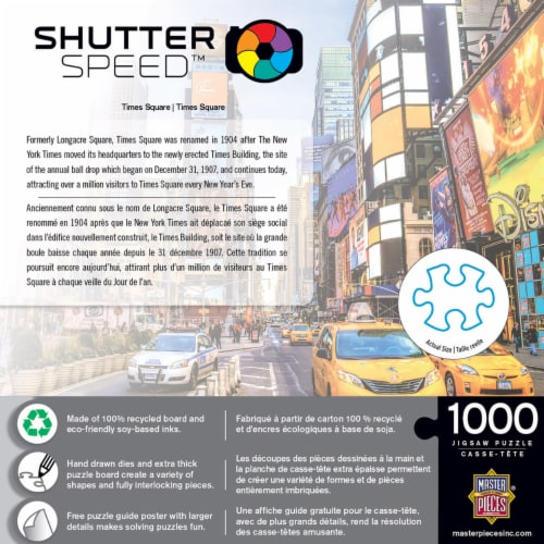 MasterPieces Shutter Speed Times Square Jigsaw Puzzle Perspective: top