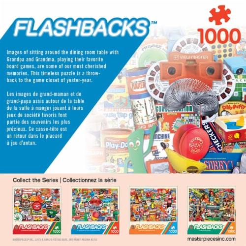 Master Pieces Flashback 1000 Piece Jigsaw Puzzle Perspective: top