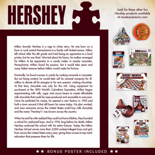Hershey's Chocolate Factory 1000 Piece Jigsaw Puzzle Perspective: top