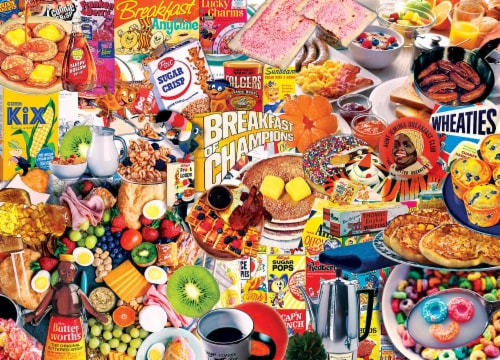 Flashbacks Breakfast of Champions Jigsaw Puzzle Perspective: top