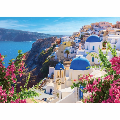 MasterPieces Shutter Speed Santorini Spring Jigsaw Puzzle Perspective: top