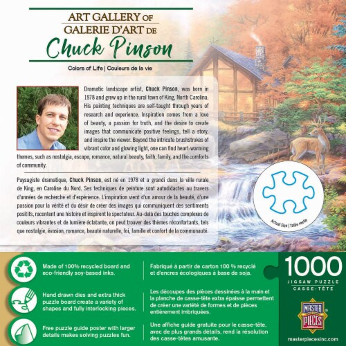 MasterPieces® Chuck Pinson Colors of Life Jigsaw Puzzle Perspective: top