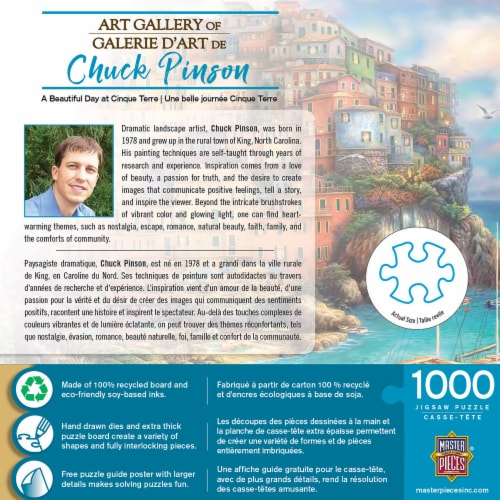 MasterPieces® Chuck Pinson Gallery A Beautiful Day at Cinque Terre Puzzle Perspective: top