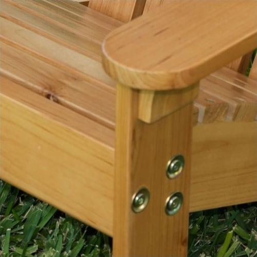 KidKraft Children's Adirondack Chair - Honey Perspective: top