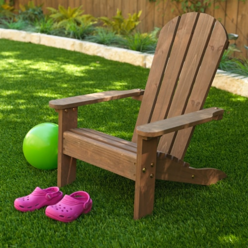 KidKraft Children's Adirondack Chair - Espresso Perspective: top