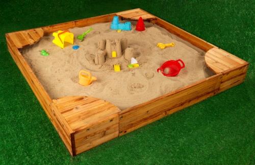 KidKraft Backyard Children's Sandbox - Honey Perspective: top