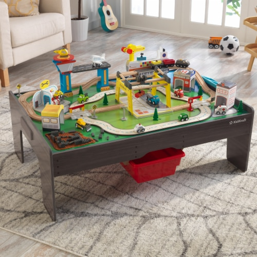 KidKraft My Own City Vehicle and Activity Table with with EZ Kraft Assembly™ Perspective: top