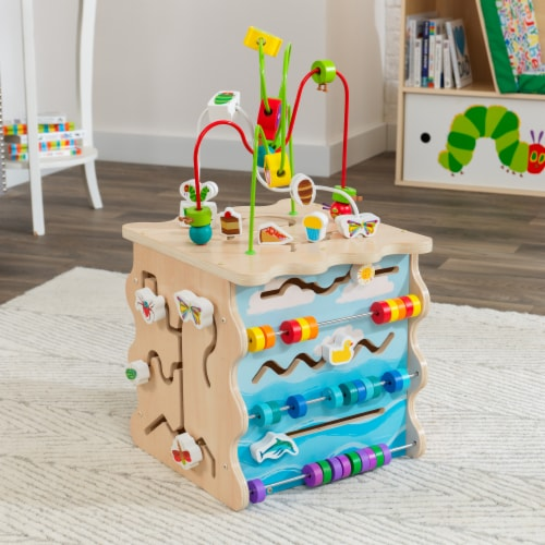 KidKraft World of Eric Carle™ Very Busy Activity Cube Perspective: top