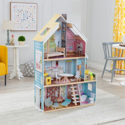 KidKraft Zoey Magic Lights & Sounds Dollhouse with EZ Kraft Assembly™ Perspective: top