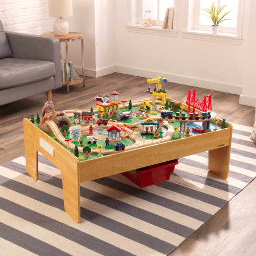 KidKraft Adventure Town Railway Train Set & Table with EZ Kraft Assembly™ Perspective: top