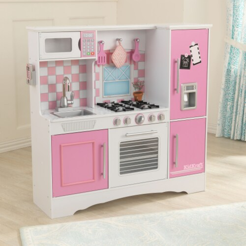 KidKraft Culinary Play Kitchen - Pink Perspective: top