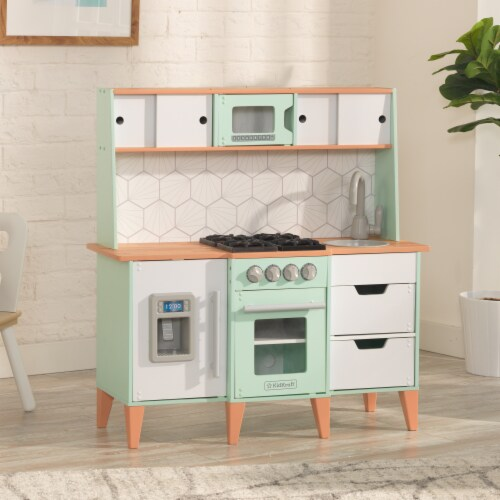 KidKraft Mid-Century Modern Play Kitchen with EZ Kraft Assembly™ Perspective: top