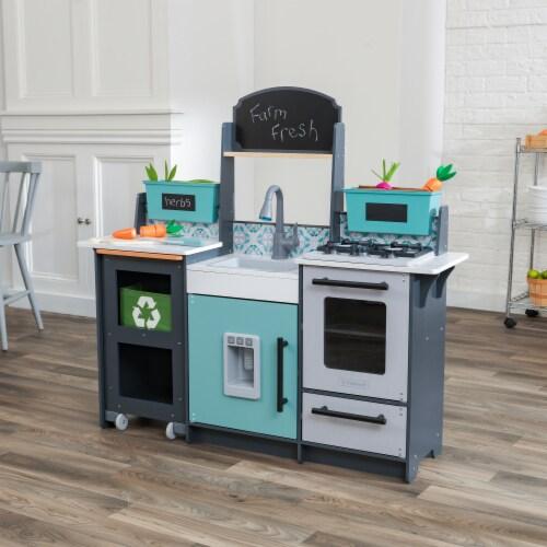 KidKraft Garden Gourmet Play Kitchen with EZ Kraft Assembly™ Perspective: top