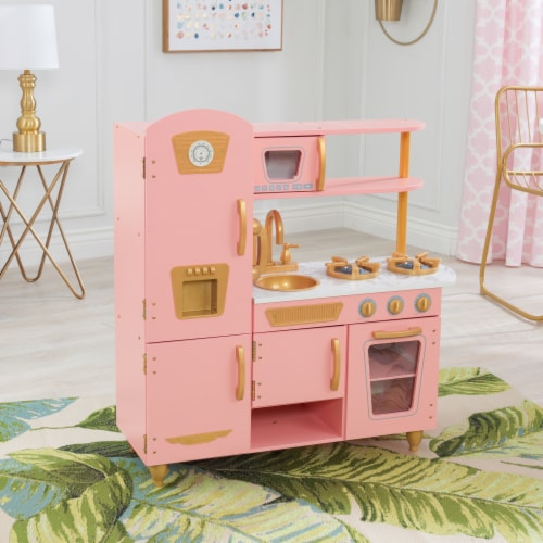 KidKraft Limited Edition Vintage Kitchen - Pink & Gold Perspective: top