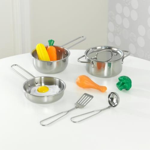 KidKraft Deluxe Cookware Set with Food Perspective: top