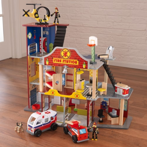 KidKraft Deluxe Fire Rescue Set Perspective: top