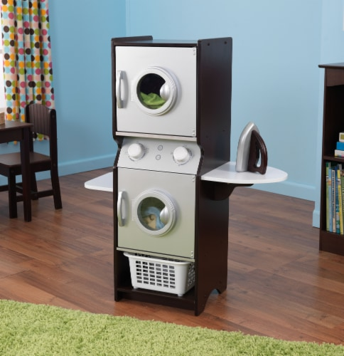 KidKraft Laundry Playset - Espresso Perspective: top