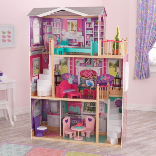 KidKraft 18-Inch Dollhouse Doll Manor Perspective: top