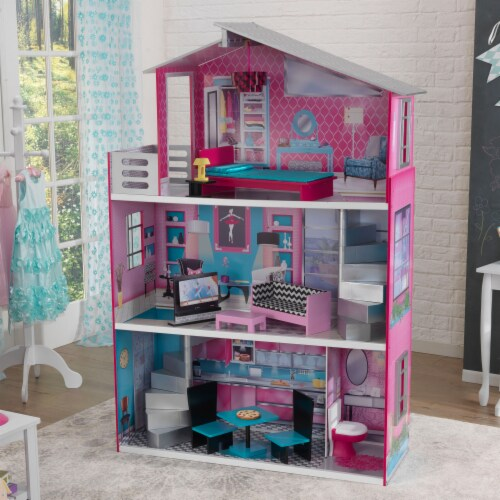 KidKraft Breanna Wooden Dollhouse for 18-Inch Dolls Perspective: top