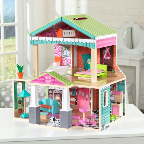 KidKraft Pacific Bungalow Dollhouse Perspective: top