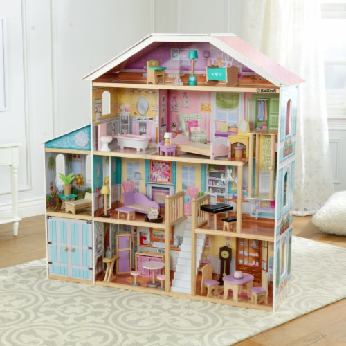 KidKraft Grand View Mansion Dollhouse with EZ Kraft Assembly™ Perspective: top