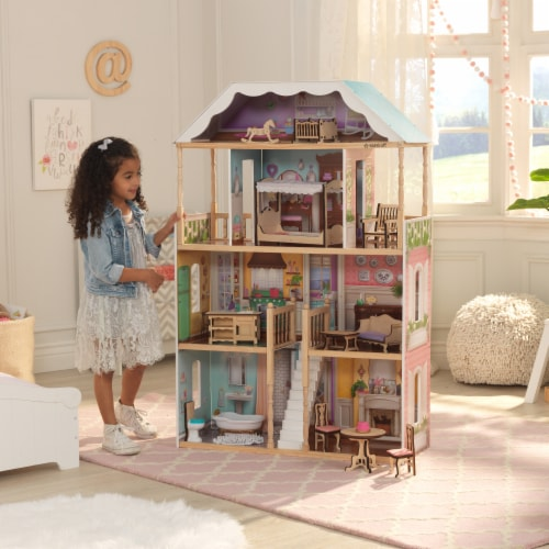 KidKraft Charlotte Dollhouse with EZ Kraft Assembly™ Perspective: top