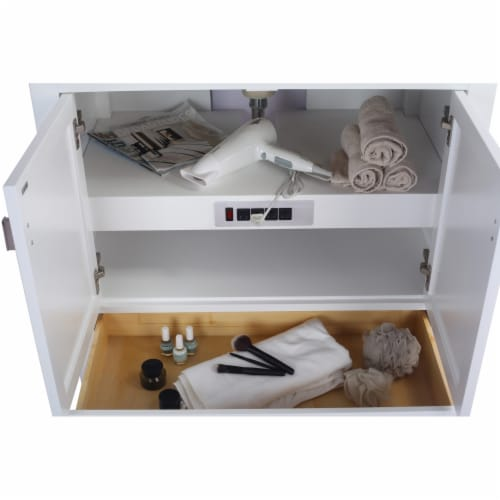 Wilson 36 - White Cabinet Perspective: top