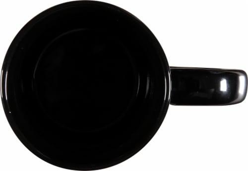 Zak!® Large Ceramic The Office Mug - Black Perspective: top