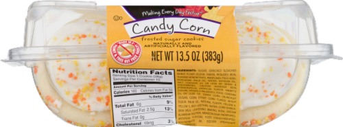 Lofthouse Candy Corn Frosted Sugar Cookies Perspective: top