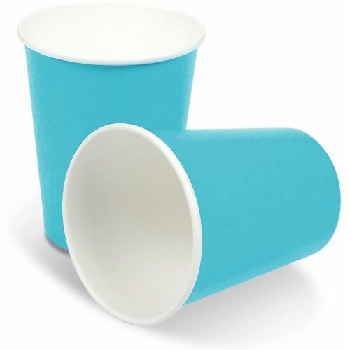 Turquoise Party Supplies, Paper Plates, Cups, and Napkins (Serves 24, 72 Pieces) Perspective: top