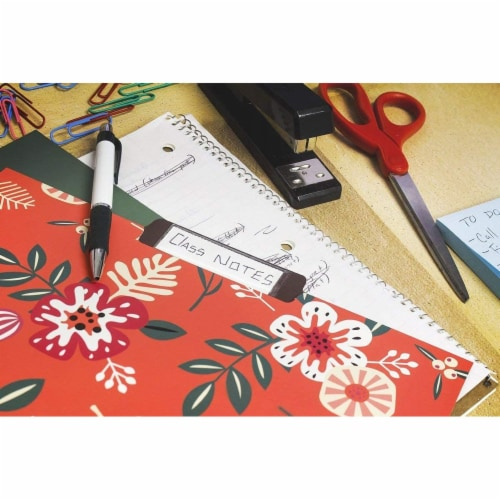 Decorative File Folders with Floral Designs, Letter Size (9.5 x 11.5 In, 12 Pack) Perspective: top