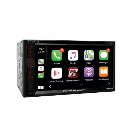 Power Acoustik CPAA-70D Double DIN In Dash DVD Receiver with Bluetooth, Black Perspective: top