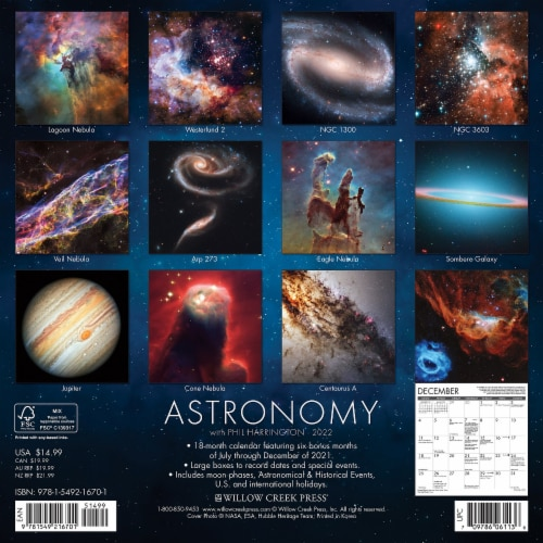 Astronomy 2022 Wall Calendar Perspective: top