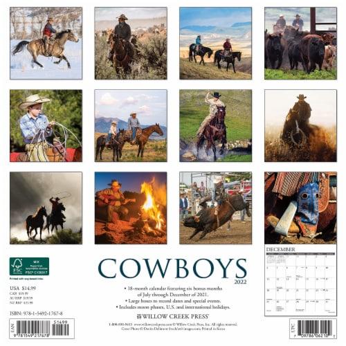 Cowboys 2022 Wall Calendar Perspective: top