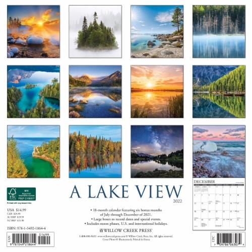 Lake View 2022 Wall Calendar Perspective: top