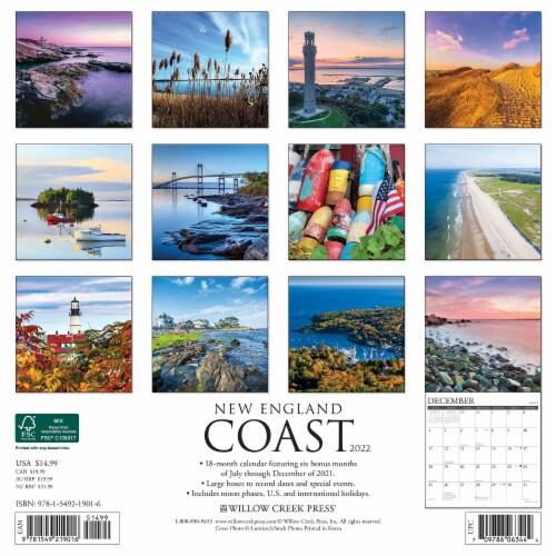 New England Coast 2022 Wall Calendar Perspective: top
