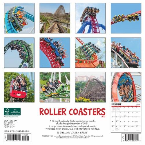 Roller Coasters 2022 Wall Calendar Perspective: top
