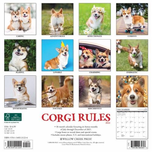 Corgi Rules 2022 Wall Calendar (Dogs) Perspective: top