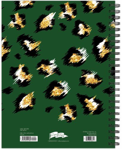 Leopard Print 2022 8.5  x 11  Softcover Weekly Large Planner Perspective: top