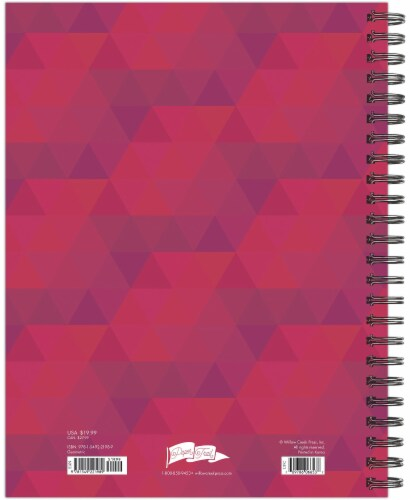 Geometric Design 2022 8.5  x 11  Softcover Weekly Large Planner Perspective: top